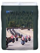 Salute To Veterans Rally Duvet Cover
