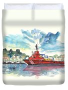 Salvage Ship In Cartagena Duvet Cover