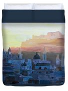 Salzburg At Dusk Duvet Cover