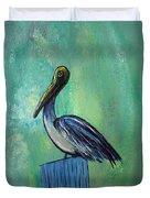 Sam The Pelican Duvet Cover