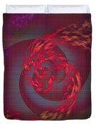 Samba Dancer Abstract Digital Painting Duvet Cover