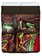 Samburu Women Dancing Kenya Duvet Cover