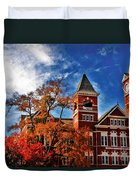 Samford Hall In The Fall Duvet Cover by Victoria Lawrence