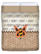 Sammy The Honey Bee Duvet Cover