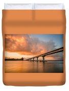 Samoa Bridge At Sunset Duvet Cover