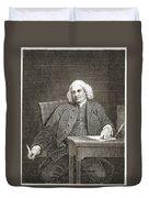 Samuel Johnson, English Author Duvet Cover