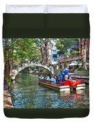 San Antonio River Walk Duvet Cover