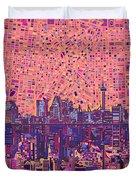 San Antonio Skyline Abstract 5 Duvet Cover