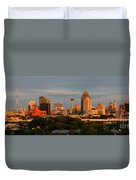 San Antonio - Skyline At Sunset Duvet Cover