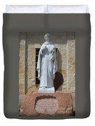 San Antonio Statue Duvet Cover