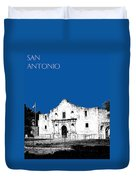 San Antonio The Alamo - Royal Blue Duvet Cover