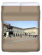 San Carlo Square In Turin Duvet Cover
