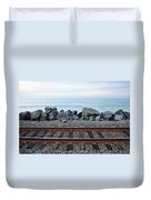 San Clemente Coast Railroad Duvet Cover