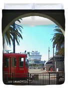 San Diego Transportation Duvet Cover