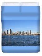 San Diego Ca Harbor Skyline Duvet Cover