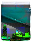 San Diego California Skyline Watercolor Duvet Cover