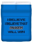San Diego Chargers I Believe Duvet Cover