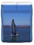 San Diego Harbor Sailing Duvet Cover