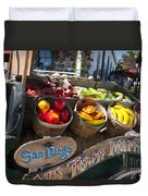 San Diego Old Town Market Duvet Cover