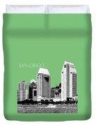 San Diego Skyline 2 - Apple Duvet Cover