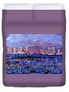 San Diego Skyline With Marina At Dusk Duvet Cover
