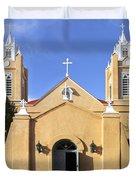 San Felipe Church - Old Town Albuquerque   Duvet Cover