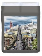 San Francisco Backlot Walt Disney World Duvet Cover
