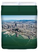 San Francisco Bay Piers Aloft Duvet Cover