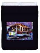 San Francisco Cable Car No. 17 Duvet Cover