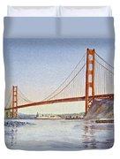 San Francisco California Golden Gate Bridge Duvet Cover