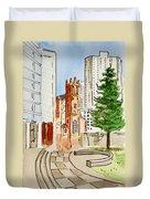 San Francisco - California Sketchbook Project Duvet Cover by Irina Sztukowski