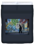 San Francisco Chinatown Street Art Duvet Cover by Juli Scalzi