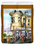 San Francisco North Beach - Watercolor Art Duvet Cover