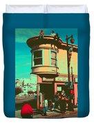 San Francisco 1968 Pop Art Duvet Cover