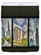 San Francisco Embarcadero Panel Duvet Cover
