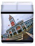San Francisco Ferry Building Giants Decorations. Duvet Cover