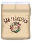 San Francisco Giants Logo Vintage Duvet Cover