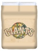 San Francisco Giants Poster Art Duvet Cover