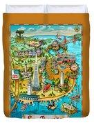 San Francisco Illustrated Map Duvet Cover