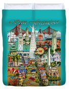 San Francisco Illustration Duvet Cover