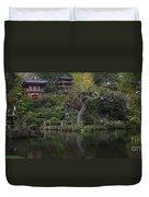 San Francisco Japanese Garden Duvet Cover by Mike Reid