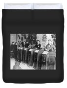 San Francisco Kinetoscope Duvet Cover