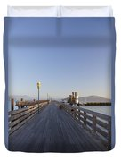San Francisco Pier Duvet Cover