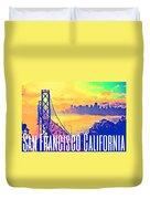 San Francisco Postcard Duvet Cover