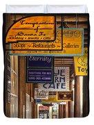 San Francisco Street Shops Duvet Cover