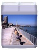 San Francisco Waterfront 1975 Duvet Cover