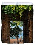 San Gimignano Door Duvet Cover