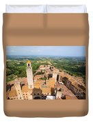 San Gimignano From The Top Of A Tower Duvet Cover