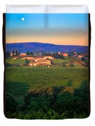 San Gimignano Vineyards Duvet Cover