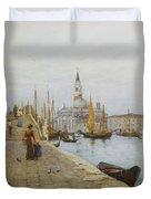 San Giorgio Maggiore From The Zattere Duvet Cover